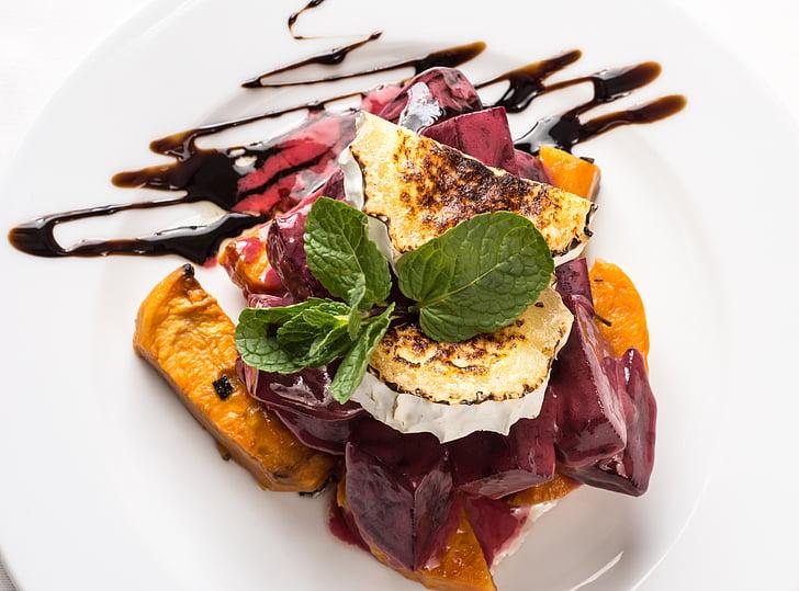 người sành ăn salad, salad bí đỏ, pho mát, nướng phô mai, Bữa ăn, thực phẩm, ăn ngon