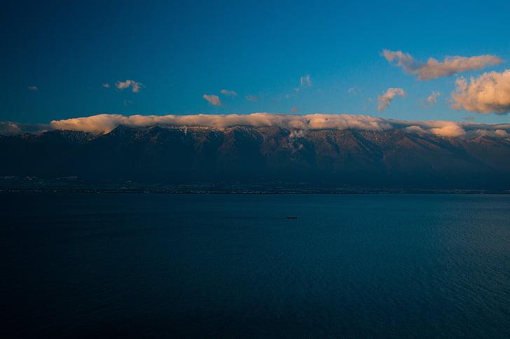 dali, cangshan, erhai lake, snow mountain, twilight, the atmosphere, the majestic