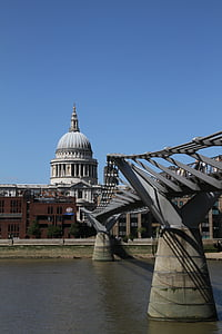 st, paul, cathedral, london, thames, city, england