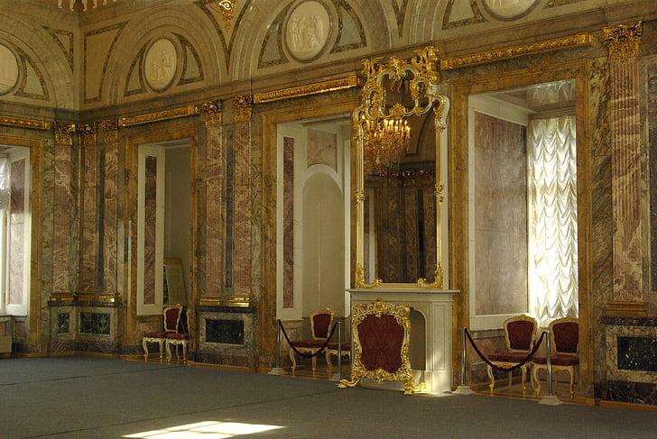 Интерьер, Музей, Мраморный дворец, Мраморный зал, Санкт-Петербург Россия, Архитектура, в помещении