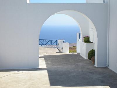 Santorini, Grčki otok, Grčka, marinac, arhitektura, more, Egejsko more