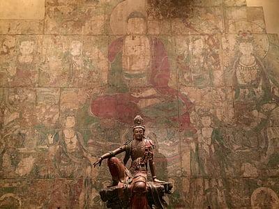 Buddha, socha, náboženství, sochařství, Asie, starověké, kultura