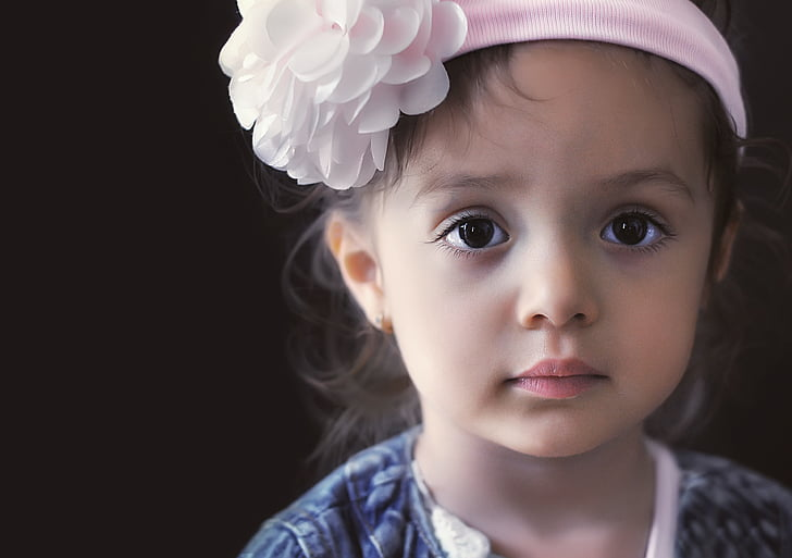 trẻ em, Mô hình, Cô bé, chân dung, Làm đẹp, thời trang, rất ít