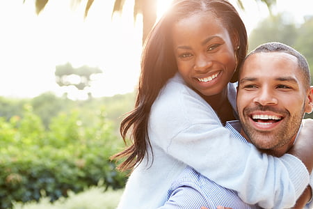 couple, african, happy, man, woman, together, happiness