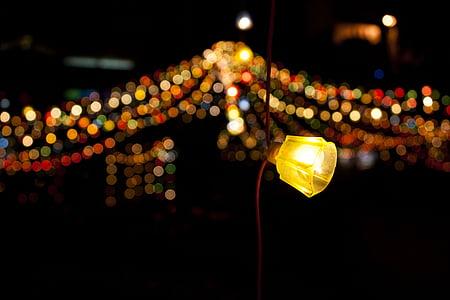 llum, bokeh, fons, resum, Nadal, llums, borrosa
