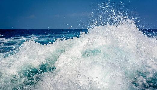 l'aigua, esquitxades, flux, gota d'aigua, gota, polvorització catòdica, Mar