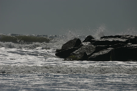 Ocean, Rocks, havet, vatten, kraschar, krasch, Splash