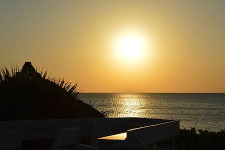 apus de soare, plajă, ocean, plaja apus de soare, apa, turism