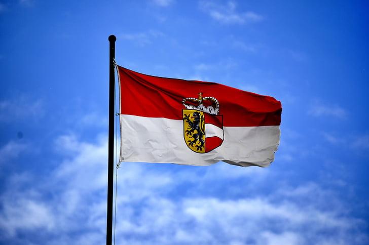 pilved, lipp, lipuvarda, lipu stick, taevas, sümbol