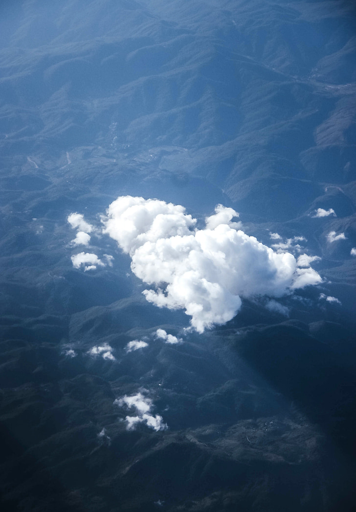 clouds on the world, world, sky, cloud, cloud thought, blue, white