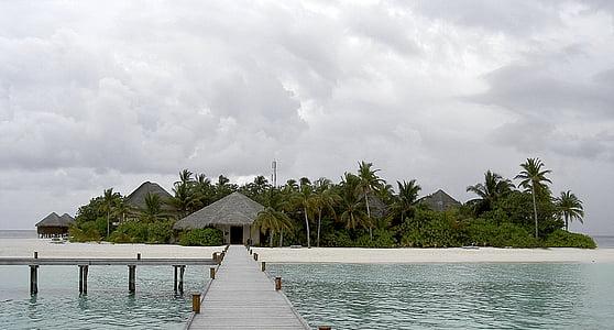 Mirihi, Maldives, Mar, illa, platja, natura, vacances