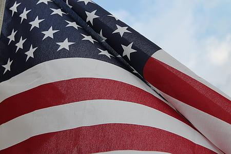 lá cờ, Hoa Kỳ, Mỹ, người Mỹ, biểu tượng, yêu nước, Quốc gia