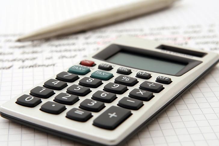 comptabilité, Balance, services bancaires, calcul, Calculatrice, gros plan, commerce