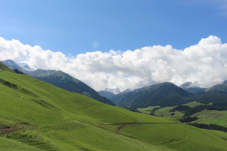 Prada, el paisatge, en xinjiang