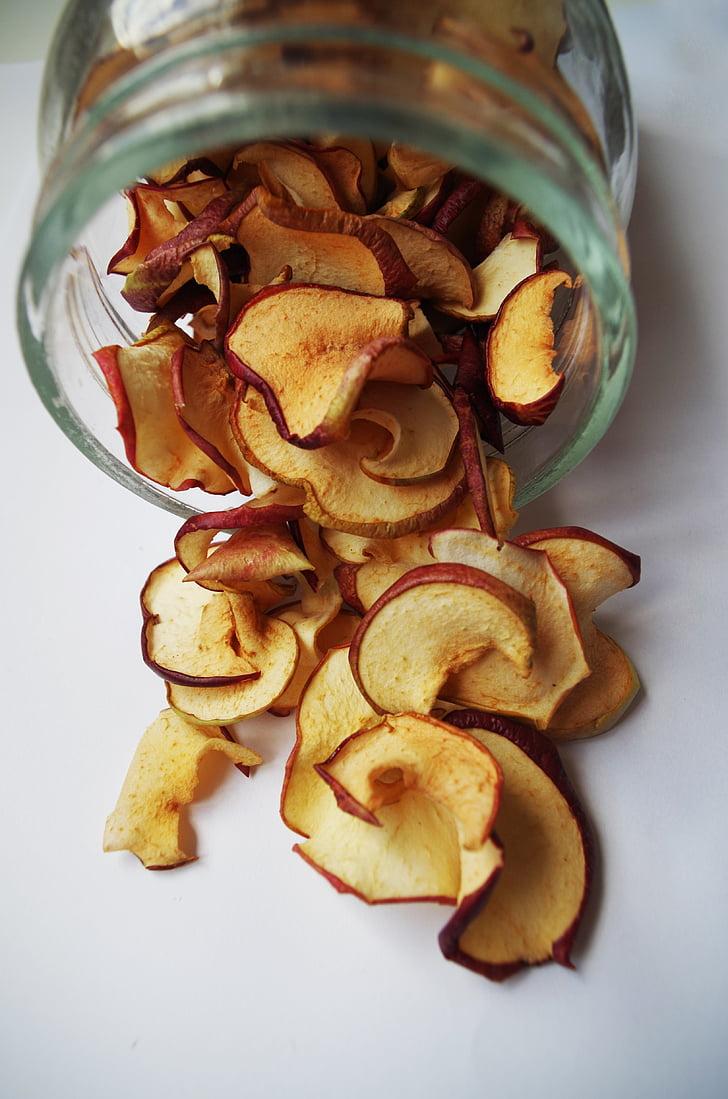 kuivatatud õunad, Cup, voolanud, toidu, Suurendus: