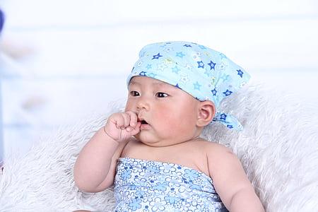 baby, suckling, infant, nursling, nurseling, boy, young