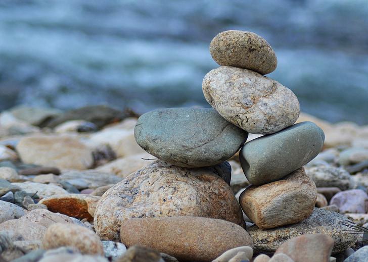 roller, Zen, Wild, steiner, vann, resten, ferie