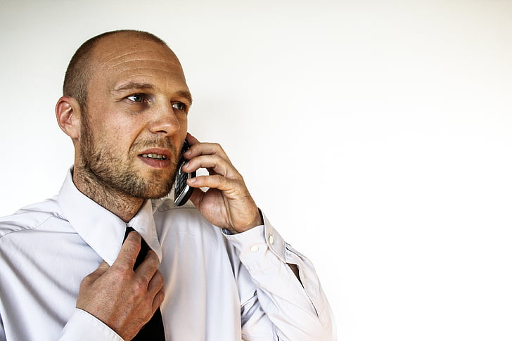 adult, annoyed, businessman, calling, chat, communication, contact