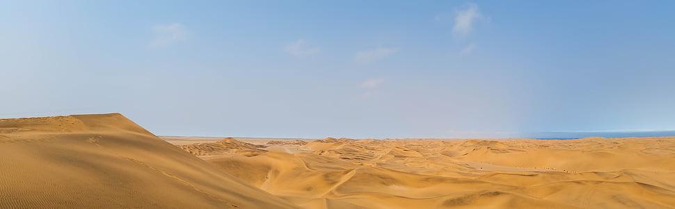 Àfrica, Namíbia, paisatge, desert del Namib, desert de, dunes, dunes de sorra