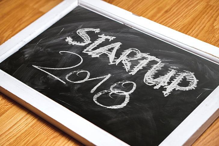 deska, tabule, písmo, začátek, nastartovat, kariéra, úspěch