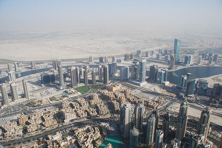 ดูไบ, ภาพถ่ายทางอากาศ, ตึกระฟ้า, สกายแครปเปอร์