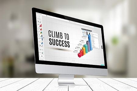 computer, imac, computer screen, business, presentation, monitor, technology