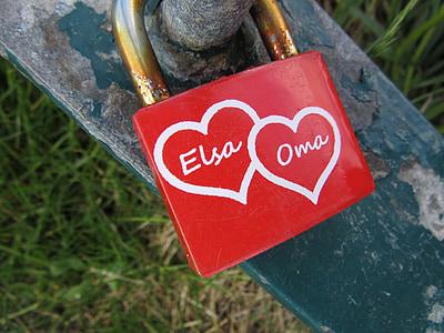 grandma, heart, love, red, luck, sign, symbol