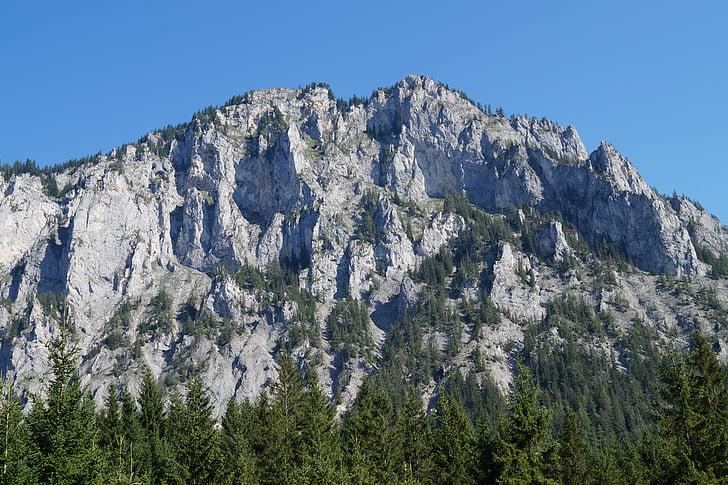 bjerge, vandreture, høje bjerge, natur, skyer, Østrig, Mountain Natur