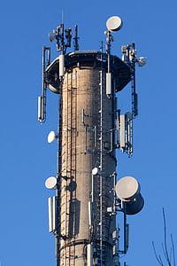 라디오 돛대, 송신 탑, 통신, 라디오 타워, 스카이, 통신, 송신기