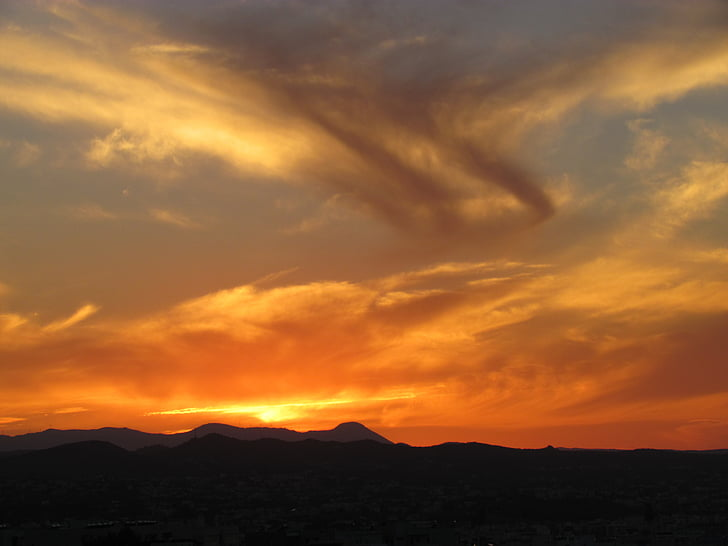 Foto Gratis Langit Mewarnai Matahari Terbenam Langit Malam
