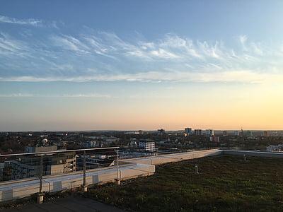 sky, panorama, sunset