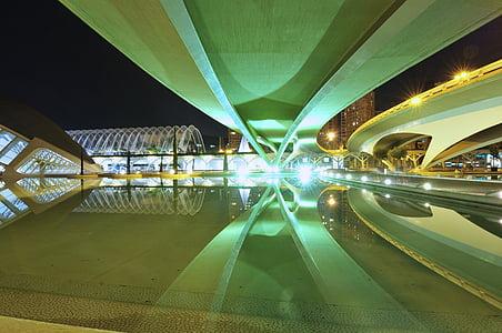 arhitektuur, Santiago calatrava, peegeldus, vee, tiik, City, Turism