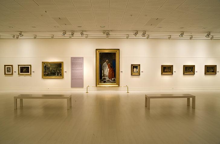 Art, maalid, Galerii, näitus, näitus, meistriteosed, hoone