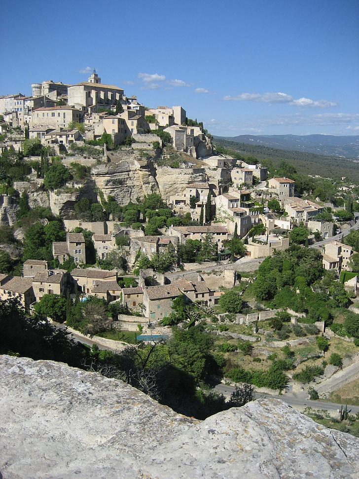 poble, Provença, Gordes, Valclusa, francès