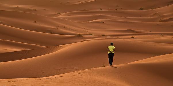 poušť, duny, písek, červená, Afrika, Maroko, Sahara