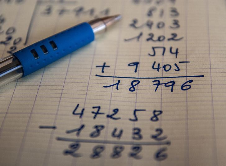 papildymas, atimtis, operacija, skaičiavimai, skaičiai, aritmetinis