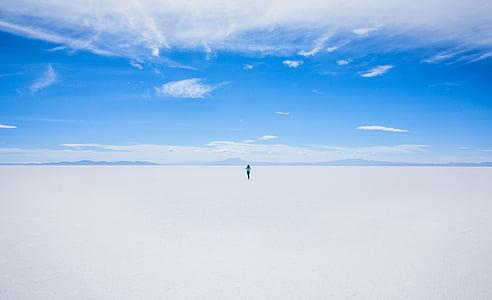 sininen taivas, kirkas sininen taivas, pilvet, kylmä, jäädytetty, Horizon, ulkona
