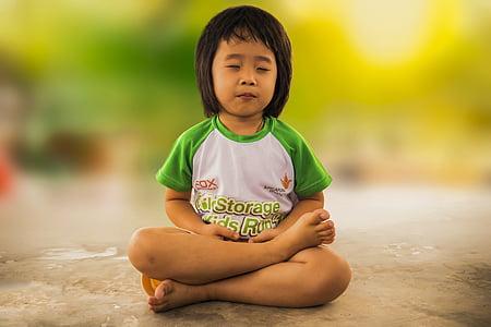медитации, посредничество, Маленькая девочка, Медитация, девочка, Религия, Буддизм
