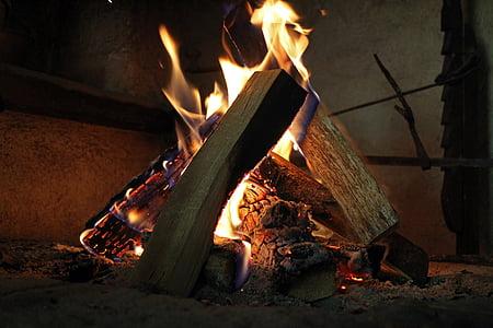 foc de fusta, foc, brases, calor, cremar, flama, Ràdio