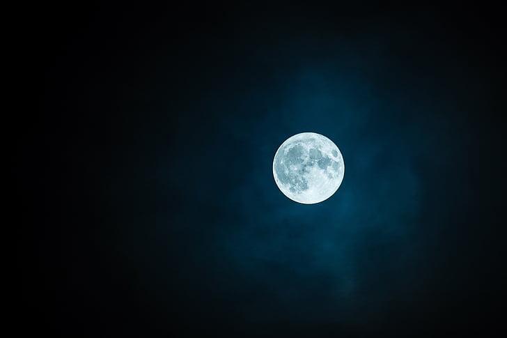 mėnulis, pilnatvės, dangus, paslaptis, Gamta, Mėnulio, Pilnatis