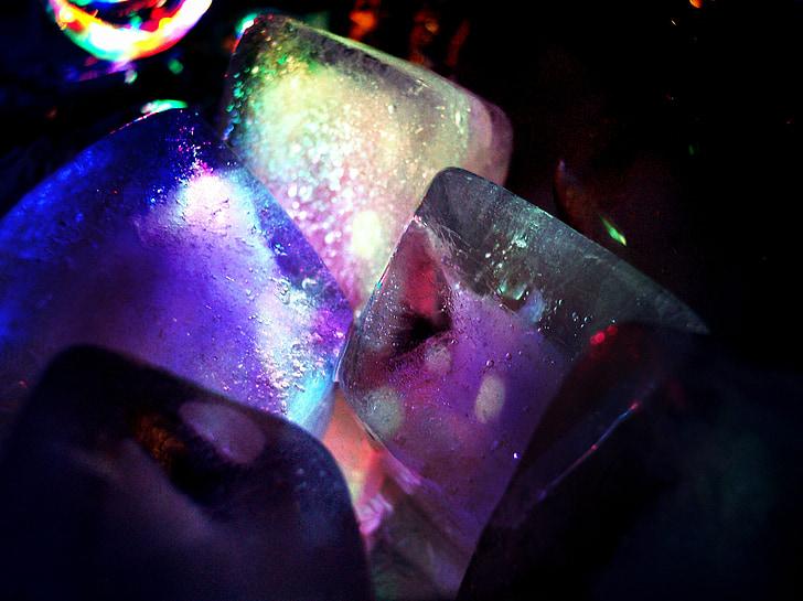 ice cubes, illuminated, celebration, festival, new year's eve, carnival, valentine