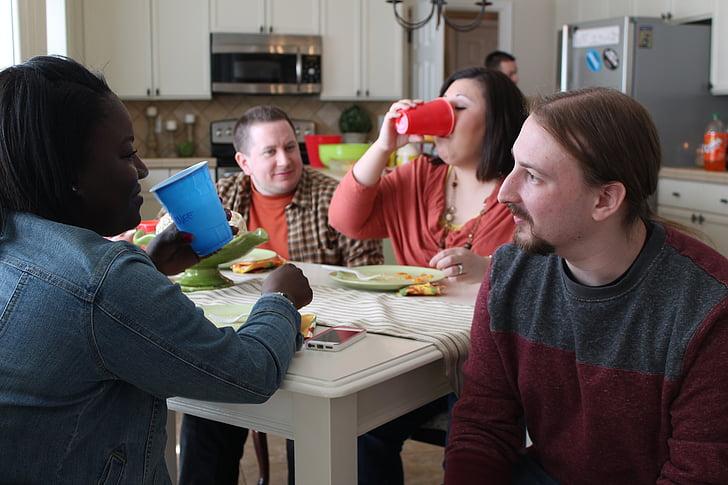 разговор, говорить, молодой, люди, Группа, Дружба, в помещении