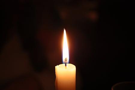 candle, light, church, darkness, dark, fire, flame