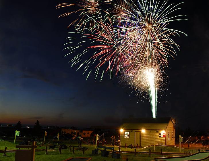 fyrværkeri, caraquet, Canada day, fest