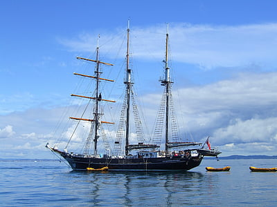 Nya Zeeland, tall ship, vatten