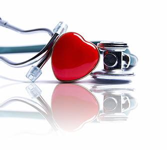 trái tim, ống nghe, y học, Chăm sóc sức khỏe và y học, không có người
