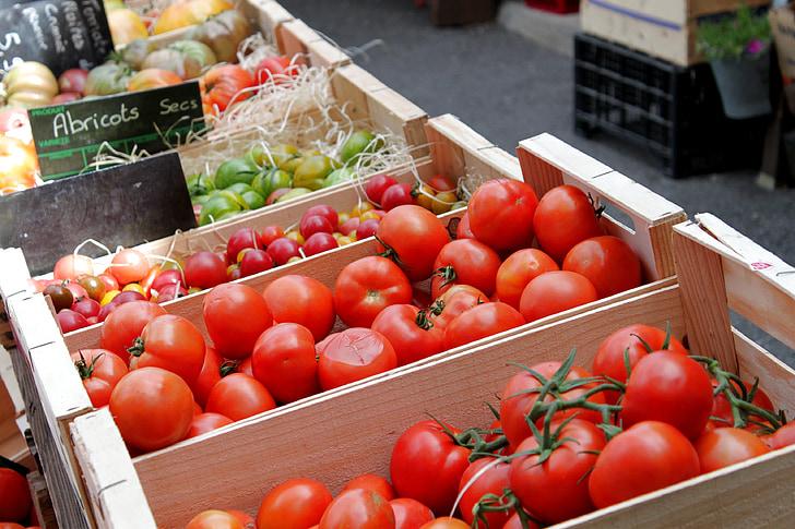 vaisių, Prancūzų, puluo Provanso, pomidorų, daržovių, šviežumo, maisto