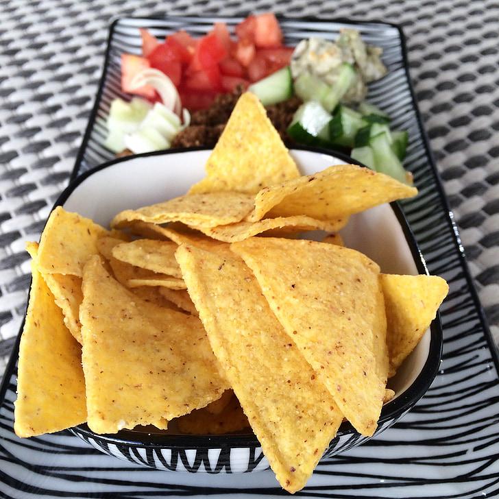 nachos, Tacos, khoai tây chiên, fredagsmys, hữu cơ, thực phẩm hữu cơ, texmex