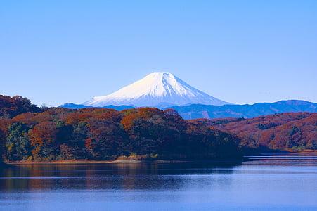 Japó, Llac sayama, embassament, paisatge, Patrimoni de la humanitat, fulles de tardor, Sant Fuji