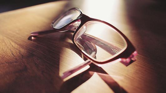 ulleres, lents, lectura, mirant, vista, visió, lent